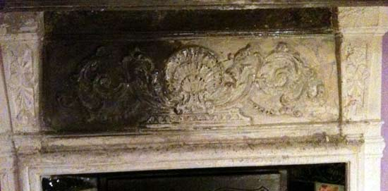A Victorian Cast Iron Fireplace, How To Clean Paint Off Cast Iron Fireplace